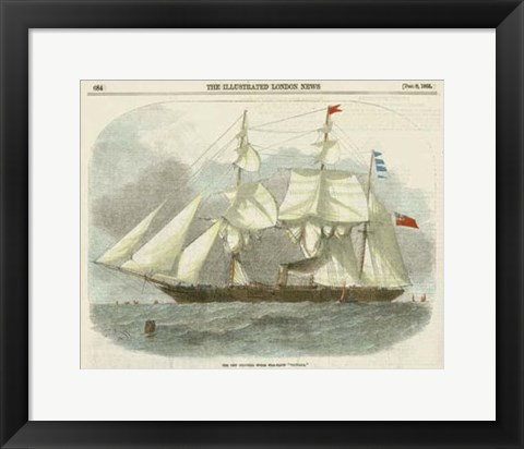 Framed Antique Clipper Ship III Print