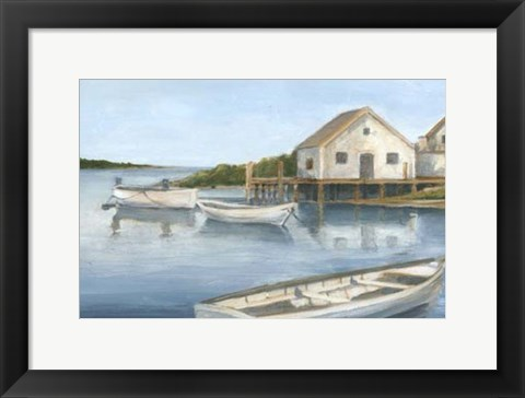 Framed Tranquil Waters II Print