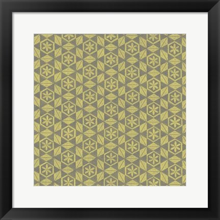 Framed Graphic Pattern II Print