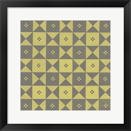 Framed Graphic Pattern III Print