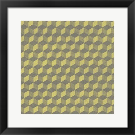 Framed Graphic Pattern V Print