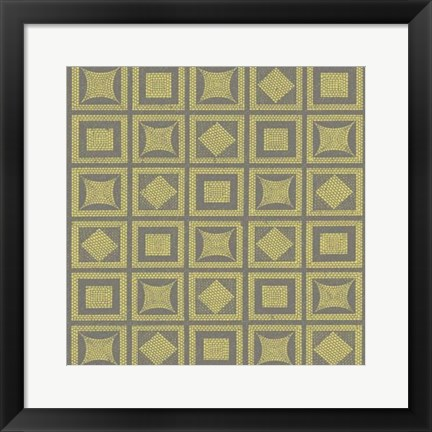 Framed Graphic Pattern VI Print