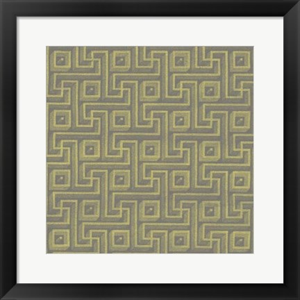 Framed Graphic Pattern VIII Print
