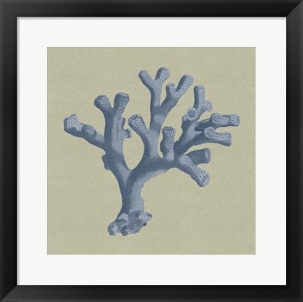 Framed Chambray Coral II Print