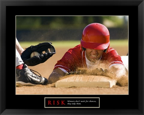Framed Risk-Baseball Print