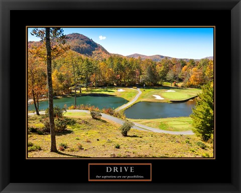 Framed Drive-Golf Print