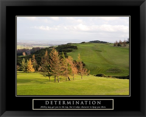 Framed Determination-Golf Print