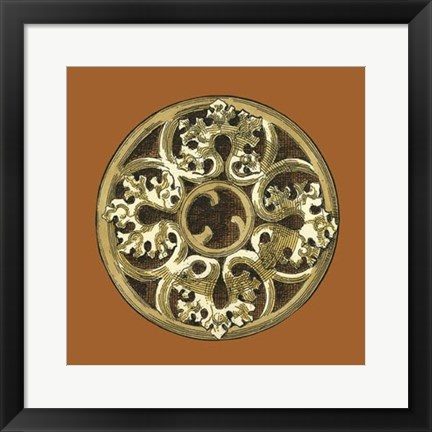 Framed Graphic Medallion II Print