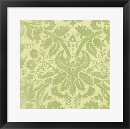 Framed Damask Detail IV Print