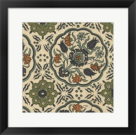 Framed Persian Tile I Print