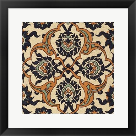 Framed Persian Tile IX Print