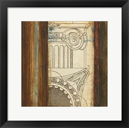 Framed Architectural Archive II Print