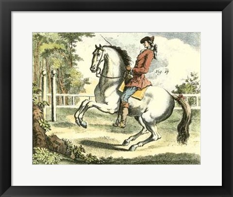 Framed Equestrian Training II Print