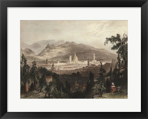 Framed Florence & Fiesole, Italy Print