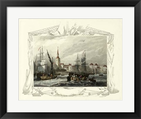 Framed Seaside Vignette II Print