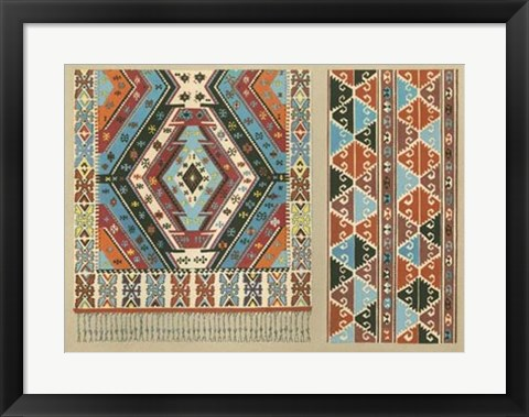 Framed Turkish Carpet Design Print