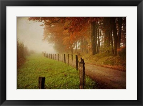 Framed Foggy Morning on Hyatt Lane Print