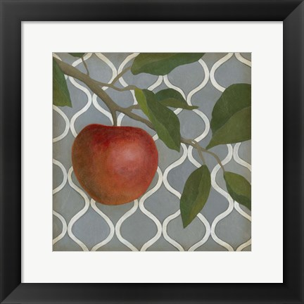 Framed Fruit and Pattern III Print