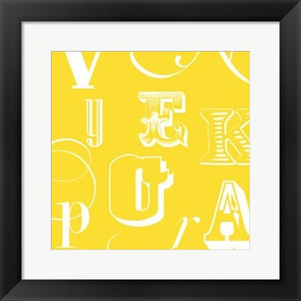 Framed Fun With Letters IV Print