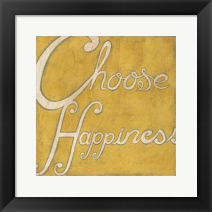 Framed Choose Happiness Print