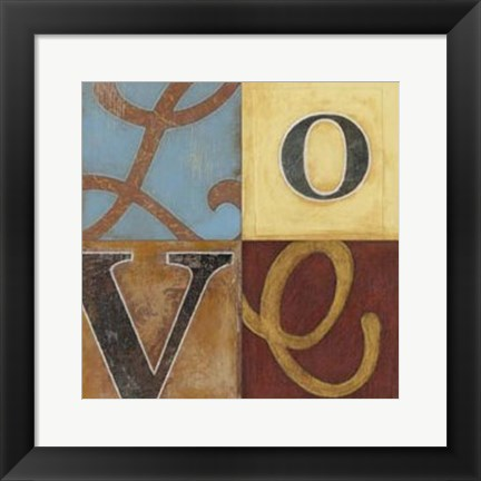 Framed Love a Lot 12x12 Print