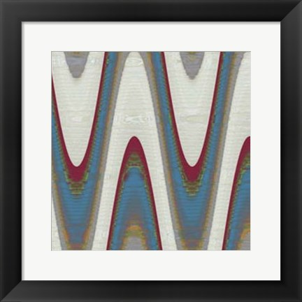 Framed Radio Waves II Print