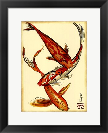 Framed Koi Fish II Print