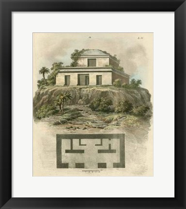 Framed Monuments of New Spain II Print