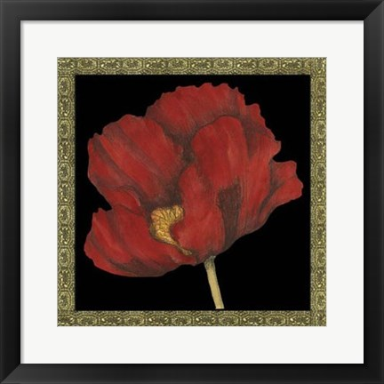 Framed Patterned Flowers II Print