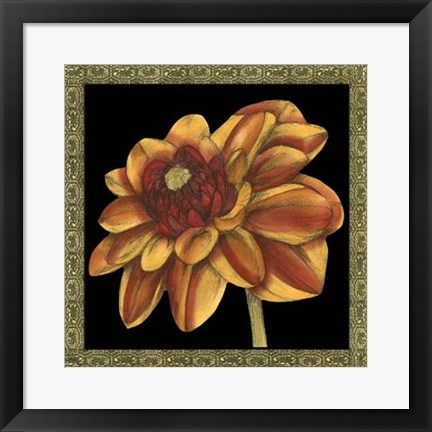 Framed Patterned Flowers VI Print