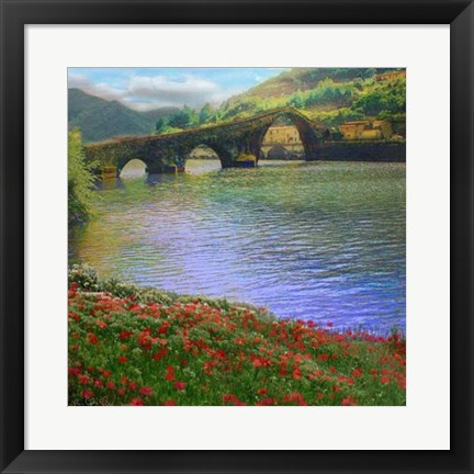 Framed River Bridge Print