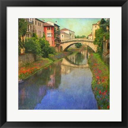 Framed Stream Bridge Print