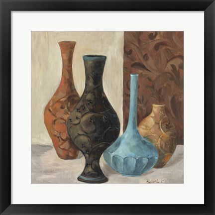 Framed Spa Vases II Print