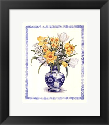 Framed Daffodils and Tulips Print