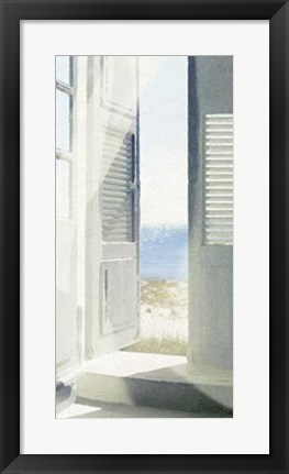 Framed Coastal Doorway II Print