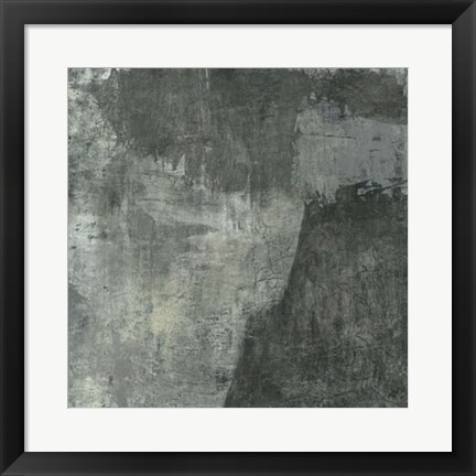 Framed Gray Abstract I Print