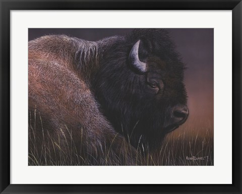 Framed American Icon- Bison Print