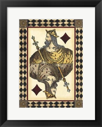Framed Harlequin Cards II Print