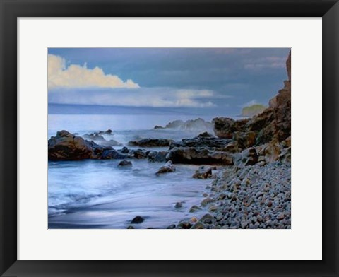 Framed Rocky Beach Print