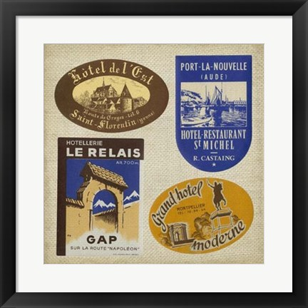 Framed Vintage Travel Collage II Print
