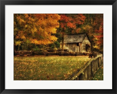 Framed Autumn at the Mill Print