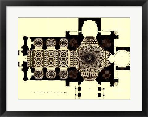 Framed French Marquetry II Print