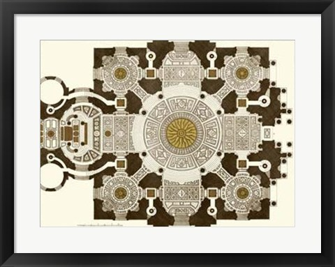 Framed French Marquetry III Print