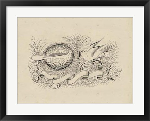 Framed Victorian Quill II Print