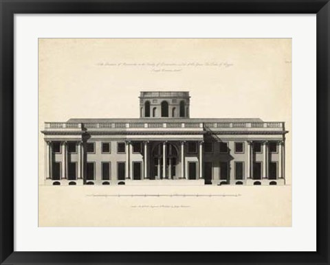 Framed Antique Facade I Print