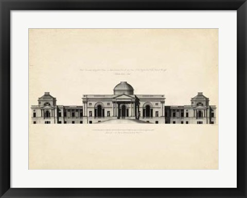 Framed Antique Facade III Print