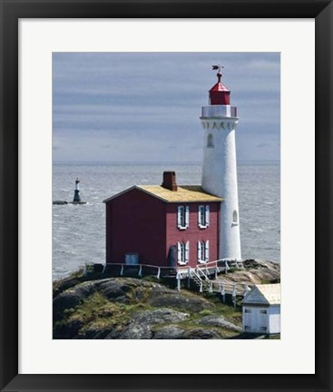 Framed Fisgard Lighthouse Print