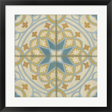 Framed No Embellish* Old World Tiles I Print