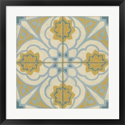 Framed No Embellish* Old World Tiles II Print