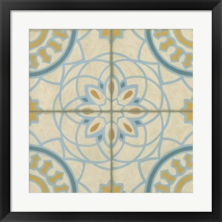 Framed No Embellish* Old World Tiles IV Print